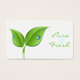 Leaf with Waterdrop Business Card