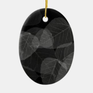 Leaf X-Ray Ceramic Ornament