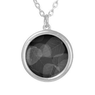 Leaf X-Ray Silver Plated Necklace
