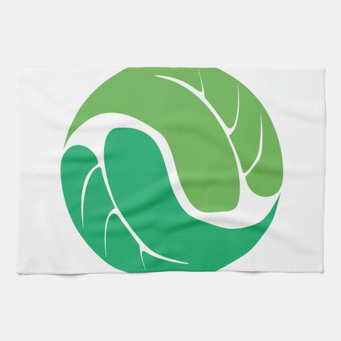 Leaf Yin Yang Hand Towels Zazzle