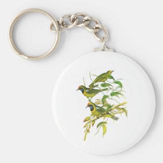Leafbird De oro-afrontado Llavero Redondo Tipo Pin