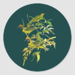 Leafbird De oro-afrontado Pegatinas Redondas