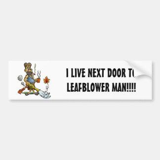 LEAFBLOWER MAN BUMPER STICKER