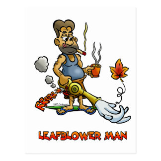 LEAFBLOWER MAN POSTCARD
