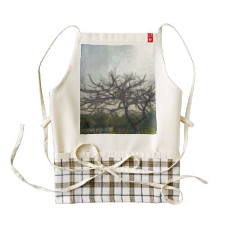 Leafless branches of a tree zazzle HEART apron