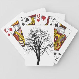 Leafless Tree In Winter Silhouette Card Decks