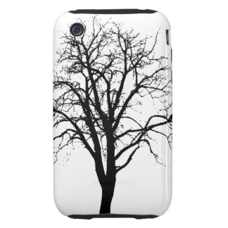 Leafless Tree In Winter Silhouette iPhone 3 Tough Cover