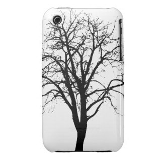 Leafless Tree In Winter Silhouette iPhone 3 Case-Mate Case