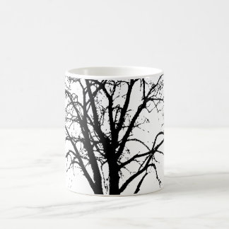 Leafless Tree In Winter Silhouette Coffee Mug