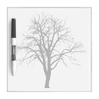 Leafless Tree In Winter Silhouette Dry-Erase Board