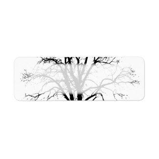 Leafless Tree In Winter Silhouette Custom Return Address Label