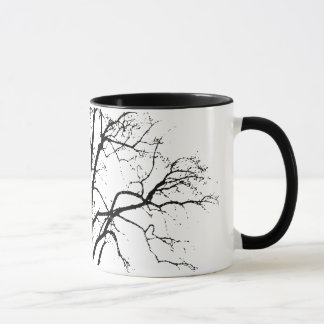 Leafless Tree In Winter Silhouette Mug