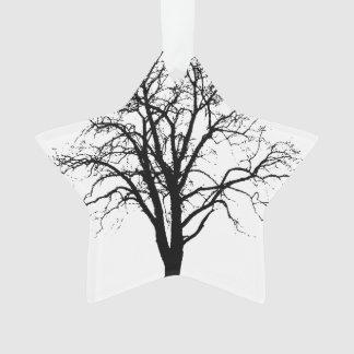 Leafless Tree In Winter Silhouette Ornament
