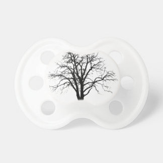 Leafless Tree In Winter Silhouette BooginHead Pacifier