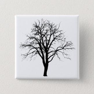 Leafless Tree In Winter Silhouette Pinback Button