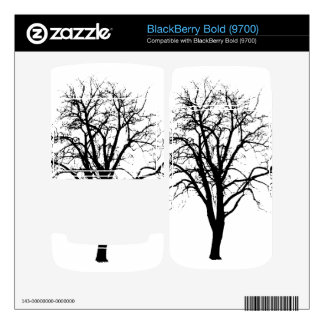 Leafless Tree In Winter Silhouette Skins For BlackBerry Bold