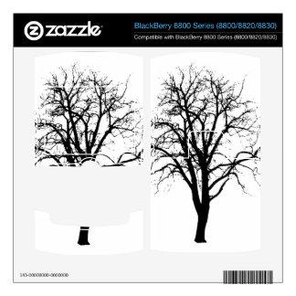 Leafless Tree In Winter Silhouette BlackBerry Decals