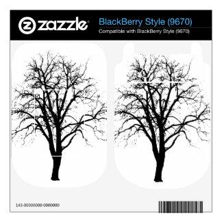 Leafless Tree In Winter Silhouette BlackBerry Skins