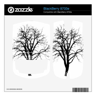 Leafless Tree In Winter Silhouette Skins For BlackBerry