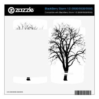 Leafless Tree In Winter Silhouette BlackBerry Storm Skin