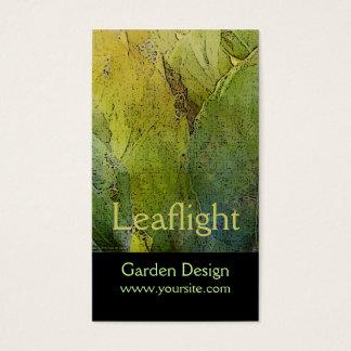 leaflight garden design business card - Garden Design Business Cards