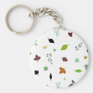Leafs and Colorful Keychain