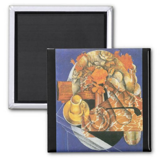 Leafs by Juan Gris Refrigerator Magnet