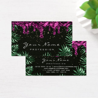 Leafs Glitter Wax Epilation Pink Depilation Lux Business Card
