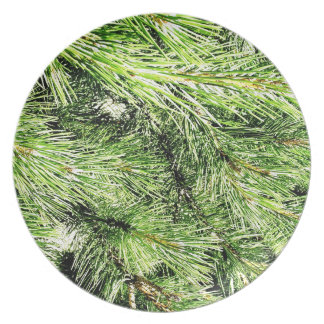 Leafs natural natural  Green Trees Earth Beautiful Dinner Plate