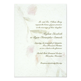 Leafy Botanical Natural Garden Wedding 5x7 Paper Invitation Card