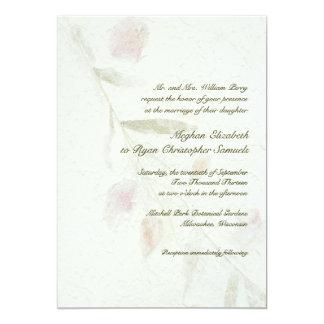 Leafy Botanical Natural Garden Wedding Card