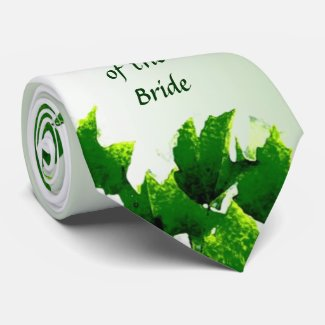 Leafy Father of the Bride Tie
