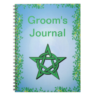 Leafy Glade Handfasting Journal for Pagan Grooms