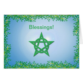 Leafy Glade Wiccan Engagement Blessings Card