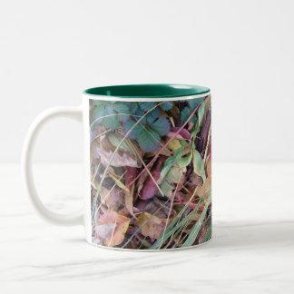 Leafy Goodness Two-Tone Coffee Mug