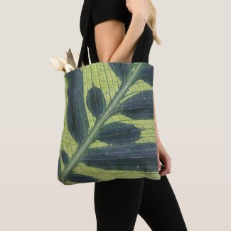 Leafy Green Bag with Flower on Reverse
