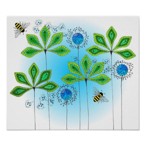 Leafy Green_Bumble Bee Poster