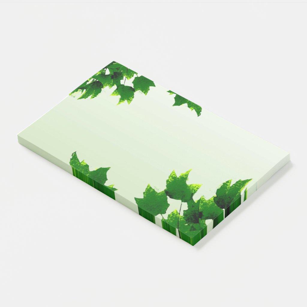 Leafy Green Jumbo Post It Note