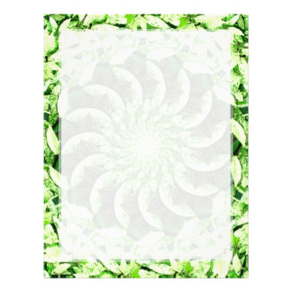 Leafy Green Kaleidoscope Mandala Letterhead