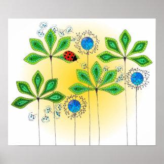 Leafy Green_Ladybug Poster