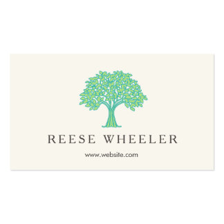 Leafy Green Tree Logo Natural Health and Nature Business Card
