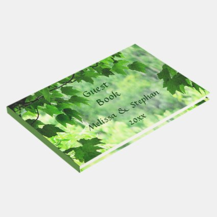 Leafy Green Wedding Guest Book