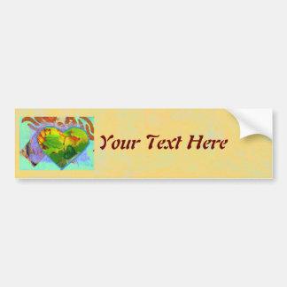 Leafy Heart custom Bumper Sticker