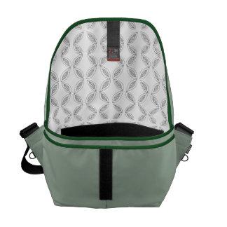 Leafy Interior Messenger Bag