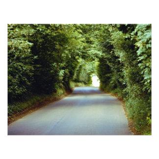 Leafy lane, Beach Cross, East Sussex, England Flyer Design
