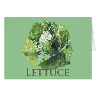 Leafy Lettuce Greeting Cards