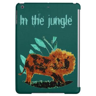 Leafy Lion Wild Animal illustration iPad Air Cover