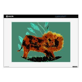 Leafy Lion Wild Animal illustration Laptop Decals