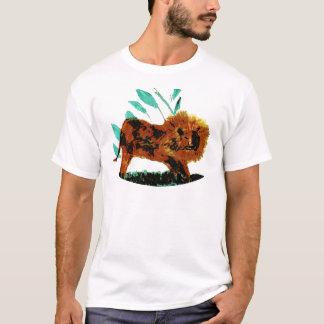 Leafy Lion Wild Animal illustration T-Shirt