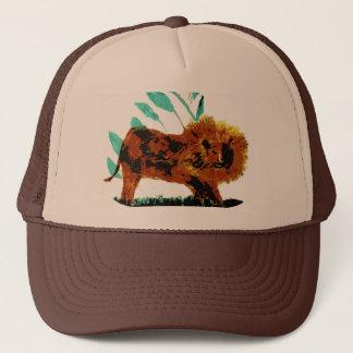 Leafy Lion Wild Animal illustration Trucker Hat